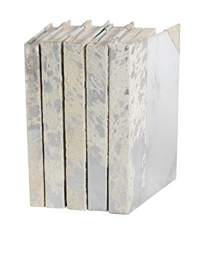 Set of 5 Silver Metallic Rebound Books