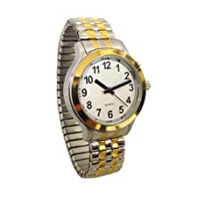 buy Ladies' Two Tone Talking Watch With White Face