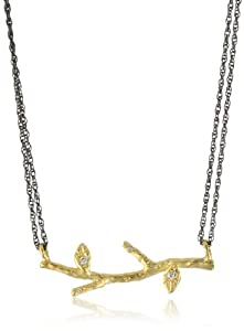 """Avindy Jewelry """"Wish Charms"""" Golden Branch Pendant Necklace"""