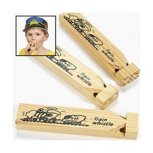1 Wooden Train Whistle Kids Childrens TOY Conductor Play Thomas - 1