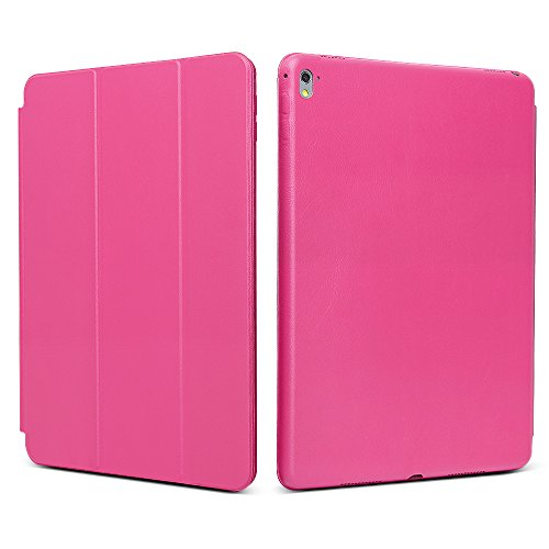 "iPad Pro 9.7 ""Case, JGOO [Full Body Protection] Ultra Slim Folio Abdeckung mit Standplatz und Magnetic Smart Cover Auto-Spur-Schlaf On / Off-Funktion, Klassische Eleganz Stil f¨¹r iPad Pro 9.7 Zoll (2016 Release), Rose"