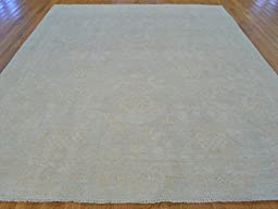 8 x 10 HAND KNOTTED WASHED OUT SKY BLUE FINE OUSHAK ORIENTAL RUG G20373