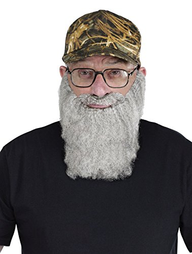 FunWorld Duck Hunter Disguise, Hat, Glasses, and Grey Beard, One Size Costume - 1