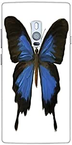 Snoogg digital painting of a butterfly Hard Back Case Cover Shield For Oneplus Two