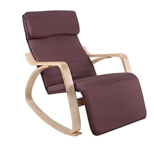 Songmics poltrona dondolo oscillante riposo sedia relax Sedia a dondolo oscillante