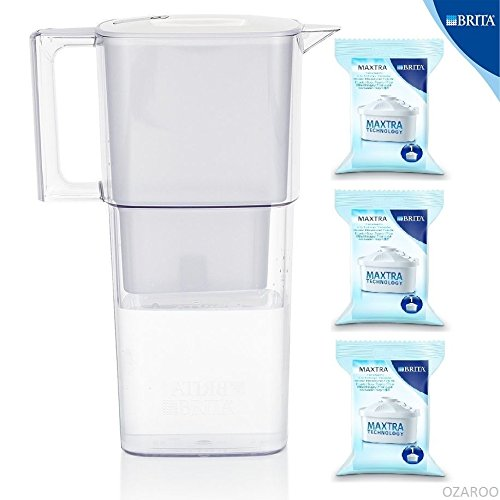 Brita New Liquelli Cool White Water Filter Jug with 3 Maxtra Filters Value Pack Free Shipping