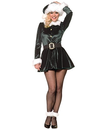[Underwraps Costumes Women's Sexy Christmas Costumes -Santa's Little Helper, Green/White, X-Large] (Childrens Santas Helper Costume)