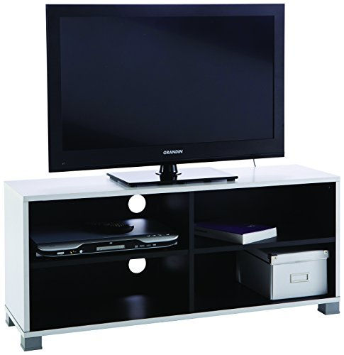Links - Simply d20 tv stand. Dim. 101,2x29,4x43,5h cm. Mdf. Bianco e nero.