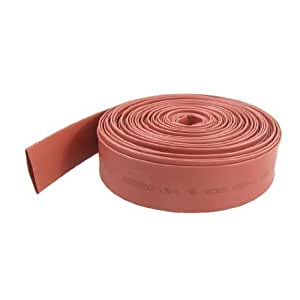 Red 17mm Dia Polyolefin Heat Shrinkable Sleeving Tube 10 Meters