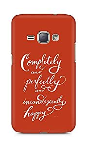 AMEZ completely and perfectly and incandescently happy Back Cover For Samsung Galaxy J1 (2016 EDITION)