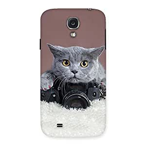 Premium Kitty Photographer Multicolor Back Case Cover for Samsung Galaxy S4