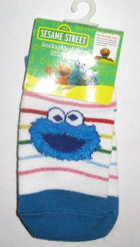 Sesame Street Cookie Monster Socks Size 12-24 Months