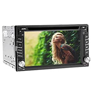 6.2-inch 2 Din TFT Screen In-Dash Car DVD Player With Navigation-Read GPS,RDS,Bluetooth,TV,iPod-Input