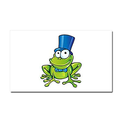 Car Magnet 20 x 12 Inch Frog with Top Hat