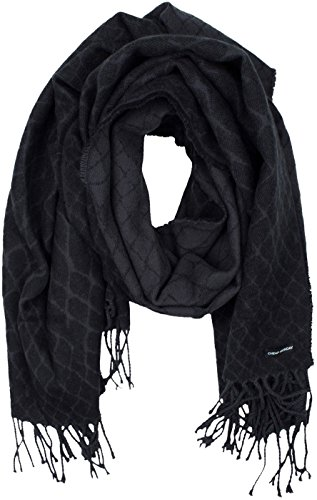 cheap-monday-womens-incognito-scarf-fence-black-scarf-in-size-one-size-black