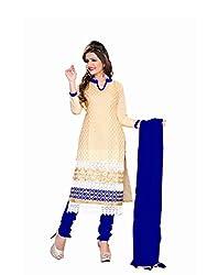JHEENU RANI Chiku Chanderi Top With Cotton Bottom Straight Unstiched Salwar S...