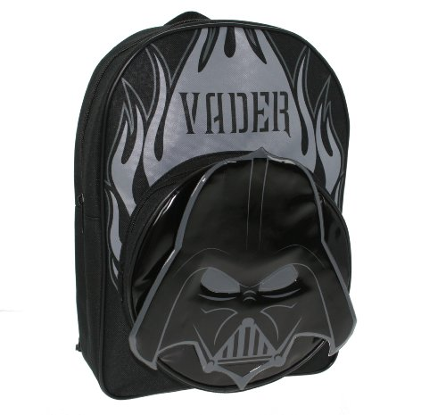 Trade Mark Collections Star Wars Backpack with shaped Darth Vader Front Pocket