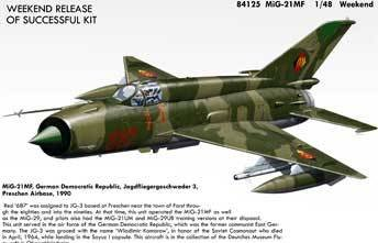 Eduard EDK84125 MiG 21MF Weekend 1:48 Plastic Kit Maquette