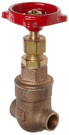 Milwaukee Valve 115 Series Bronze Gate Valve, General Service, Class 125, Non-Rising Stem, Solder End