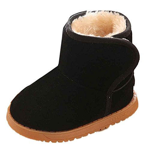 Mosunx(TM) Cute Baby Child Style Winter Cotton Boot Warm Snow Boots (1-2 Years, Black)