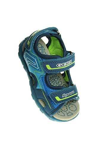 GEOX sandalo del bambino B PIANETA A avio/verde B4264A 014AF C4204 (SGK-62), Multicolore (Avio/GREEN), 24 EU