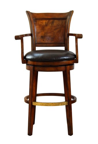 Swivel Bar Stool with Top Grain Leather Seat by Global  : 410qBDKSb3L from archinspire.org size 340 x 500 jpeg 18kB