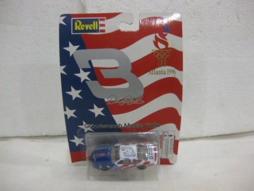 Dale Earnhardt #3 Atlanta 1996 Olympics / Goodwrench Chevy Monte Carlo In Red White & Blue Diecast 1:64 Scale By Revell - 1