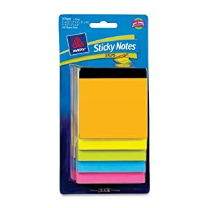 Avery Sticky Notes, Assorted Sizes, Bright Colors, 450 Sheets (22611)