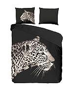 PURE Juego De Funda Nórdica Leopard (Antracita)