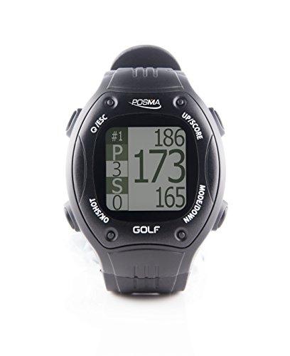 Montre POSMA GT1+ à GPS intégré et calcul de distances , circuits de golf pré chargés sans téléchargements et sans abonnement, noir, circuits inclus. États-Unis, Espagne, France, Italie, Finlande, Canada, Europe, Australie, Nouvelle Zélande, Asie etc.
