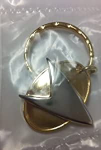 Star Trek TNG Gold Metal Communicator Keyring (1997) The Next Generation