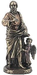 8.13 Inch Saint Matthew The Evangelist Cold Cast Bronze Figurine by Unknown