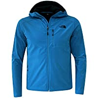 The North Face Apex Bionic 2 Soft Shell Hooded Mens Jacket (Banff Blue)