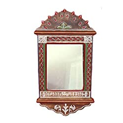 VarEesha Textured Handpainted Warli Mirror