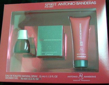 Antonio Banderas Spirit Men Set 0.5 Oz Edt Sp +2.5 Oz Shower Gel - Antonio Banderas Fragrances