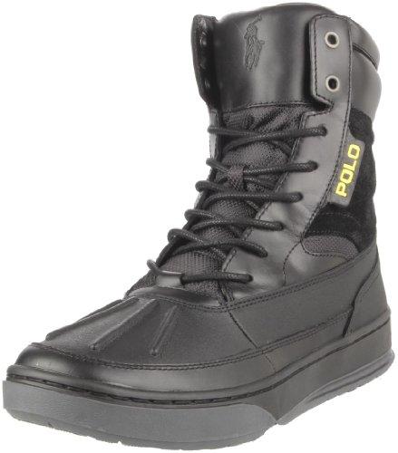 Polo Ralph Lauren Men's Lansing Chukka Sneaker,Black,10 D US