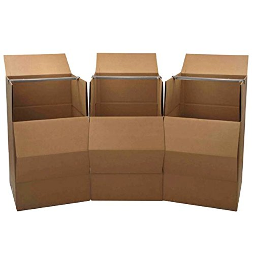 Wardrobe Moving Boxes (3-Pack) (Wardrobe Packing Boxes compare prices)