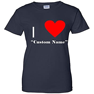 I Heart Custom Name Women's T-Shirt