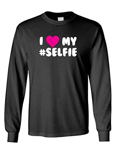 I Love My Selfie - Funny Meme Song Long Sleeved T-Shirt, Xl, Black