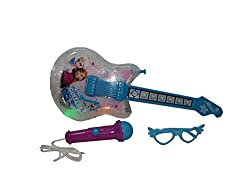 Parteet Musical Guitar with Flashing Lights and Other Accessories for Kids