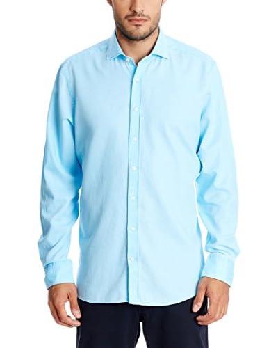 Hackett London Camicia Uomo  Blu Chiaro XL