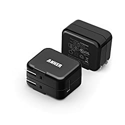 Anker 2 pack 10W USB Wall Charger with PowerIQ Technology for Apple iPhone 6 / 6 Plus, iPad Air 2 / mini 3, Samsung Galaxy S6 / S6 Edge and More (Black)