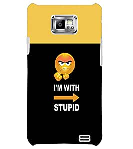 PrintDhaba Funny Quote D-3492 Back Case Cover for SAMSUNG GALAXY S2 (Multi-Coloured)