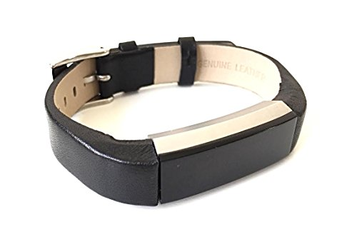 BSI-Black-Leather-Band-For-Fitbit-Alta-Fitness-Tracker-Adjustable-Smooth-Design-Straps-With-Metal-Buckle-Clasp