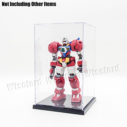 Tingacraft Acrylic Assembly Display Case/Box (5.1x5.1x8.3 Inches) Perspex Dustproof ShowCase For 1:12 1:24 Action Figure 1:100 / 1:144 Gundam Trophy 1:6 Barbie