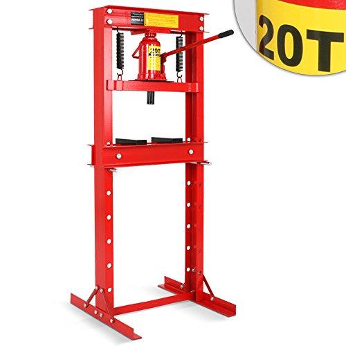Werkstattpresse-Lagerpresse-inkl-Hydraulikpumpe-und-2x-Druckplatten-Hydraulikpresse-Dornpresse-max-20T