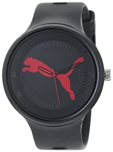 "PUMA Men's PU910871001 Slick ""Big Cat"" Black Red Watch from PUMA"