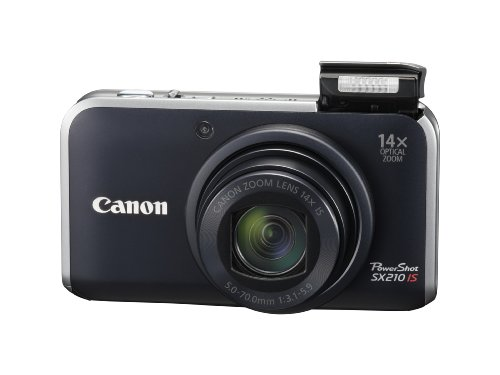 Canon PowerShot SX210 IS is one of the Best Digital Cameras Overall Under $500 with at least 10x Optical Zoom