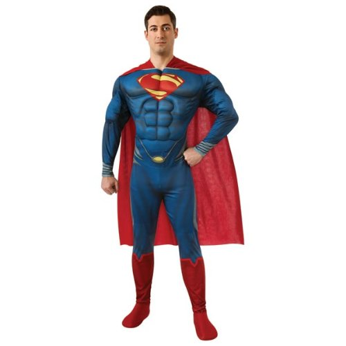 Rubie'S Costume Man Of Steel Deluxe Adult Muscle Chest Superman, Blue/Red, Medium Costume front-478211