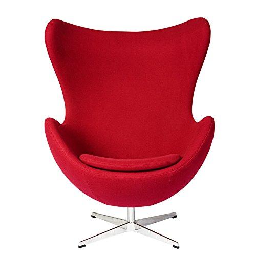 エッグチェア アルネヤコブセン 上質ファブリック仕様  レッド ソファ ソファー sofa